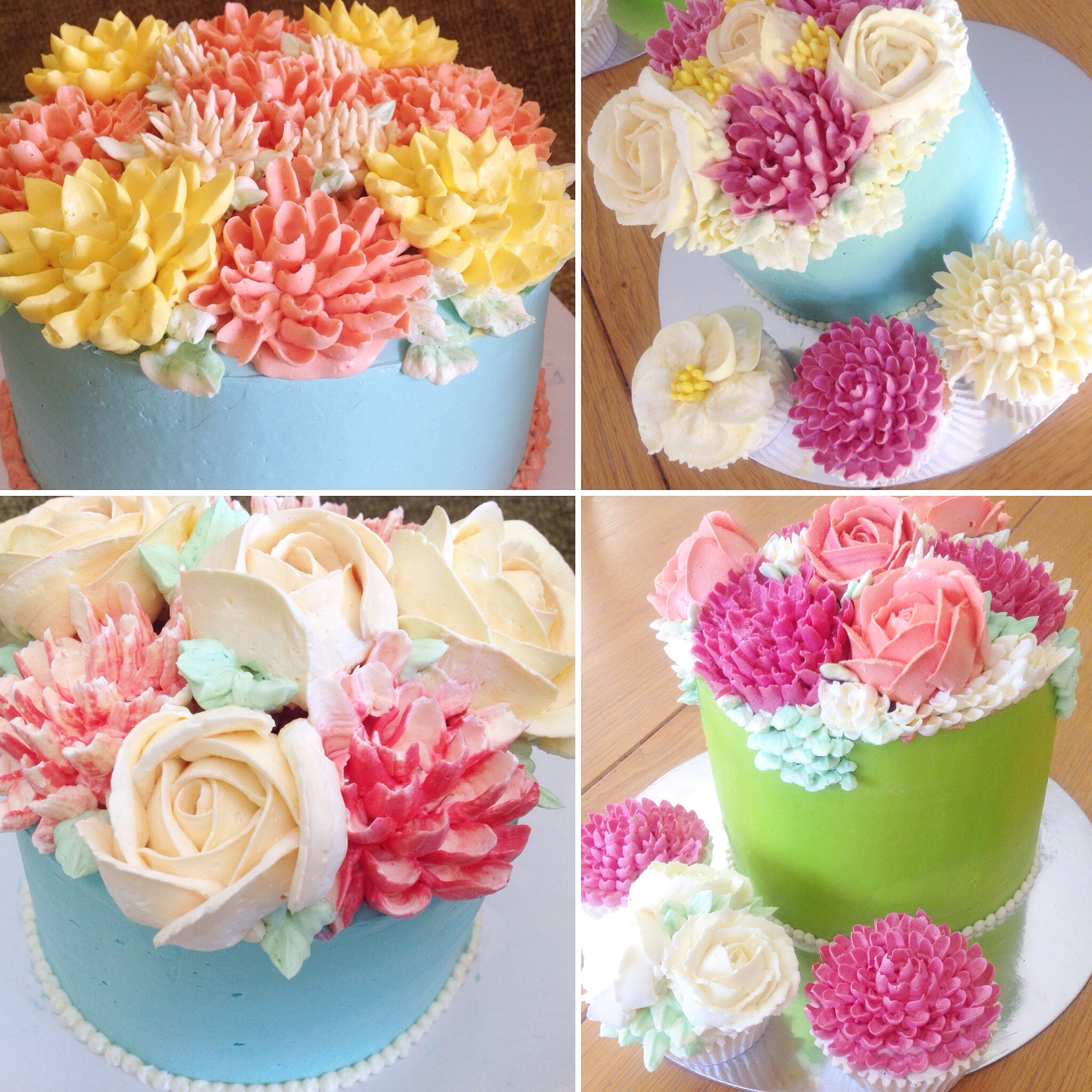 Cake Decorating Piping Flowers : Piped Buttercream Flower Cake